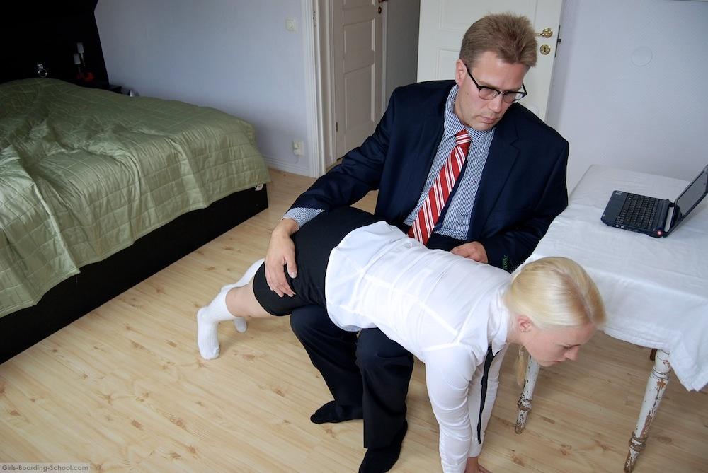 girl boarding school spanking: